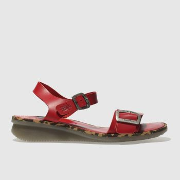Fly London Red Comb Womens Sandals