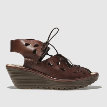 Fly London Brown Yote Womens Sandals