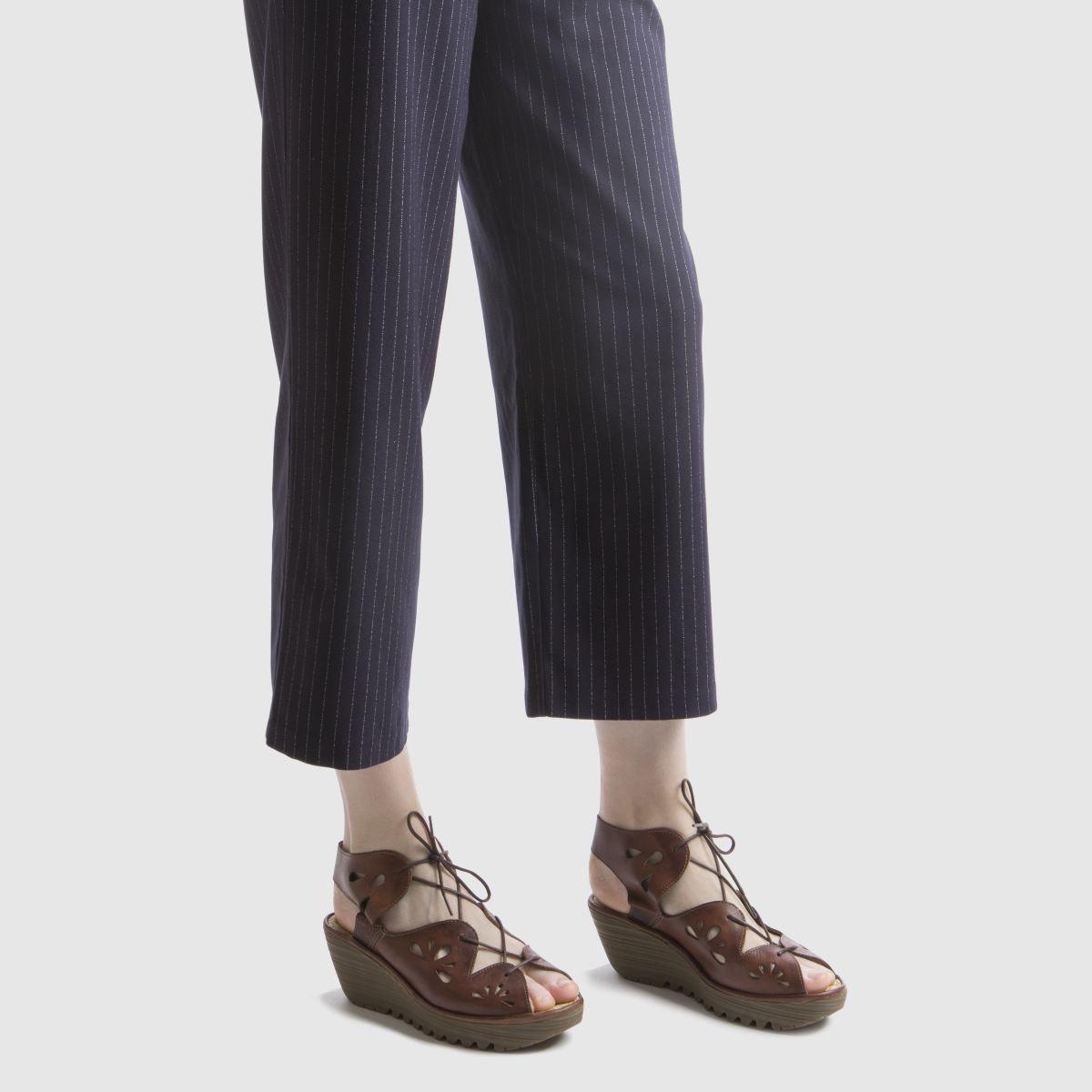 Damen Braun fly london Yote Sandalen | Schuhe schuh Gute Qualität beliebte Schuhe | c41c4d
