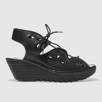 Fly London Black Fly Yote Womens Sandals