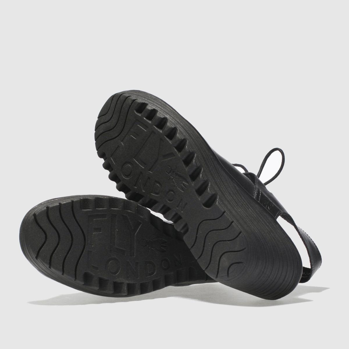 Damen Schwarz fly london schuh Fly Yote Sandalen | schuh london Gute Qualität beliebte Schuhe 7a7632