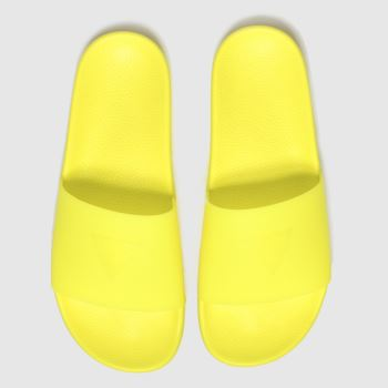 Guess Yellow Pop Colour Slide Womens Sandals