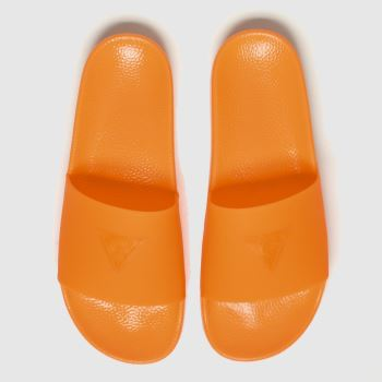 guess orange pop colour slide sandals