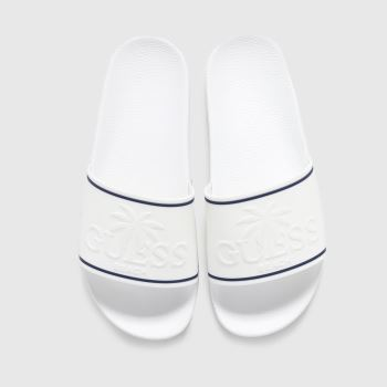GUESS White Beach Slide Womens Sandals