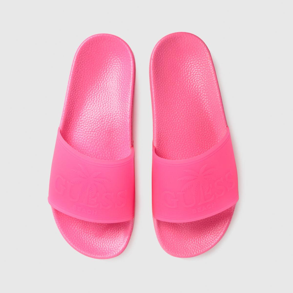 GUESS Pink Beach Slide Sandals