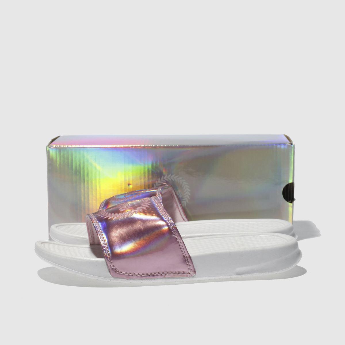 Damen Pink Gute hype Holographic Slider Sandalen | schuh Gute Pink Qualität beliebte Schuhe 417252