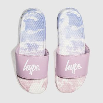 Hype Pink Clouds Slider Womens Sandals