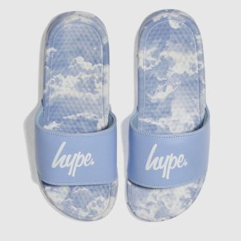 Hype Blue Clouds Sliders Womens Sandals
