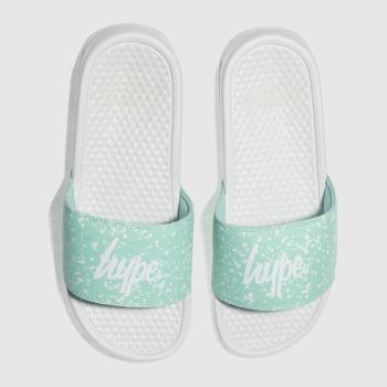 Hype Green Speckle Slider Womens Sandals
