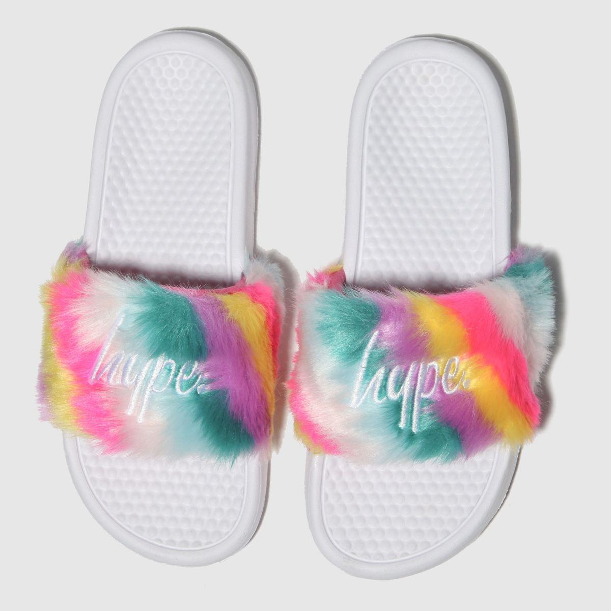 Hype Multi Fluffy Slider Sandals