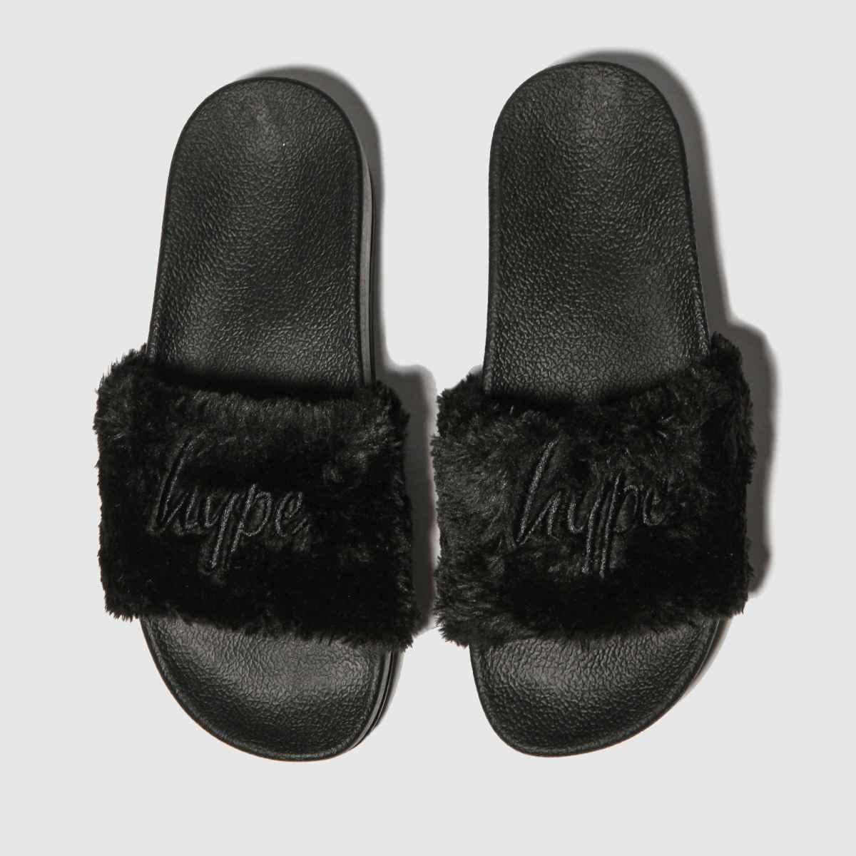 Hype Black Flatform Slider Sandals