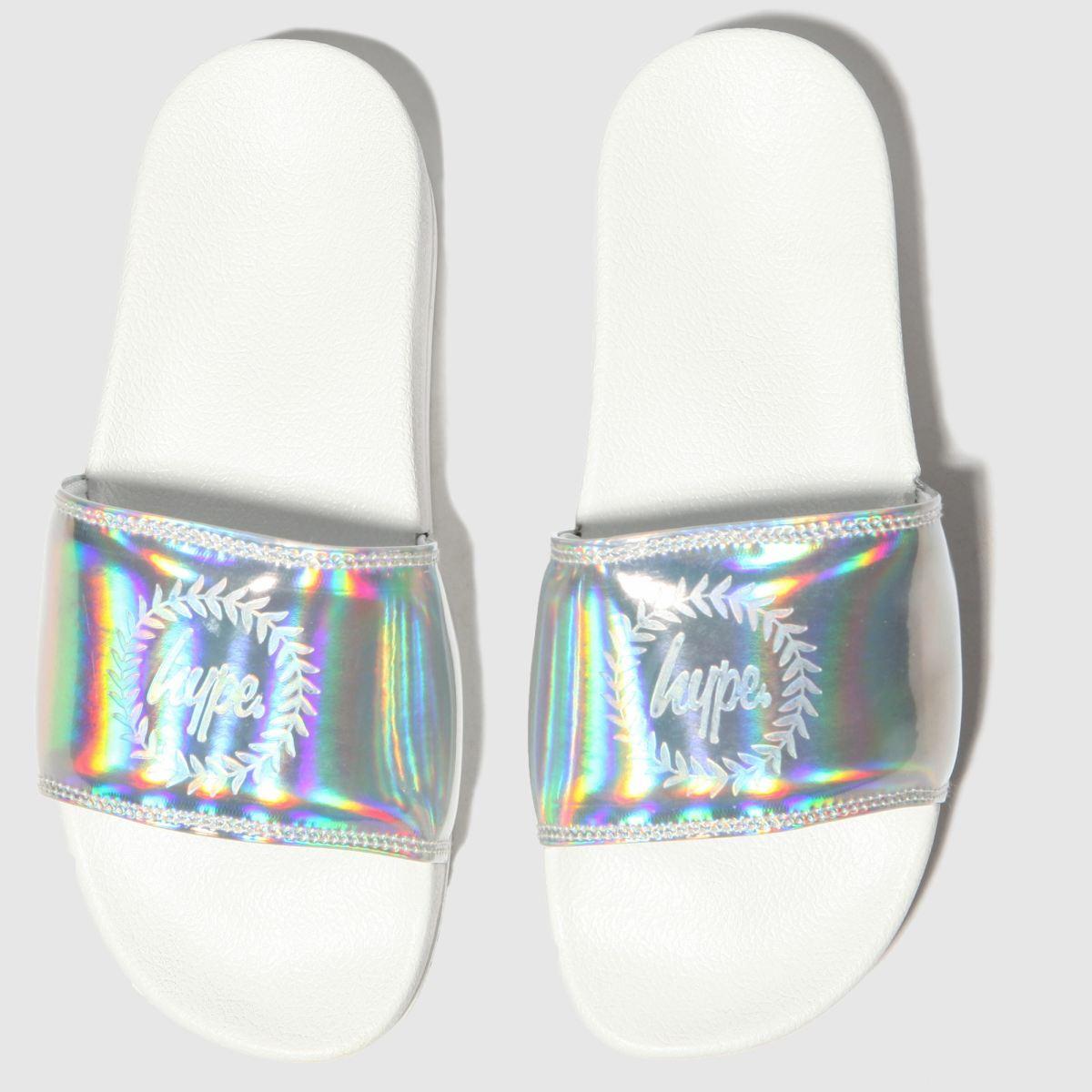 Hype Silver Flatform Slider Sandals
