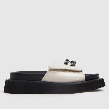 Shellys London Stone & Black Sophia Chain Slider Womens Sandals