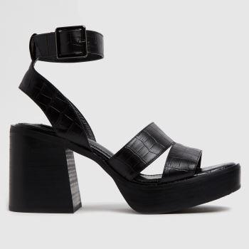 Shellys London Black Sallie Heeled Womens Sandals