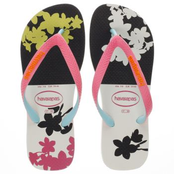 HAVAIANAS WHITE & PINK TOP FASHION SANDALS