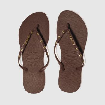 Havaianas Burgundy Slim Hardware Womens Sandals