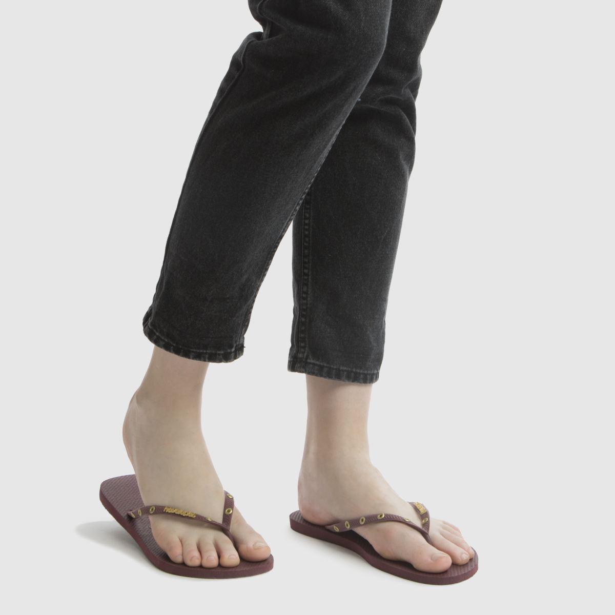 Damen Weinrot havaianas Qualität Slim Hardware Sandalen   schuh Gute Qualität havaianas beliebte Schuhe fe1be2