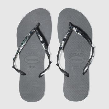 HAVAIANAS GREY SLIM HARDWARE SANDALS