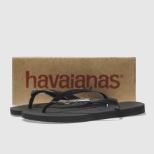 c18ba8b332d6e womens black   silver havaianas slim metal logo sandals