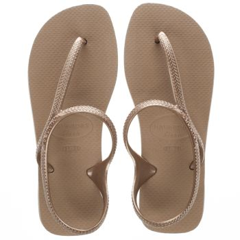 HAVAIANAS ROSE GOLD FLASH URBAN SANDALS
