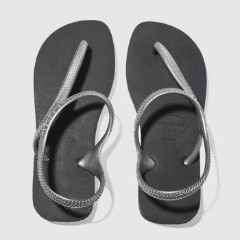Havaianas Black & Silver FLASH URBAN Sandals
