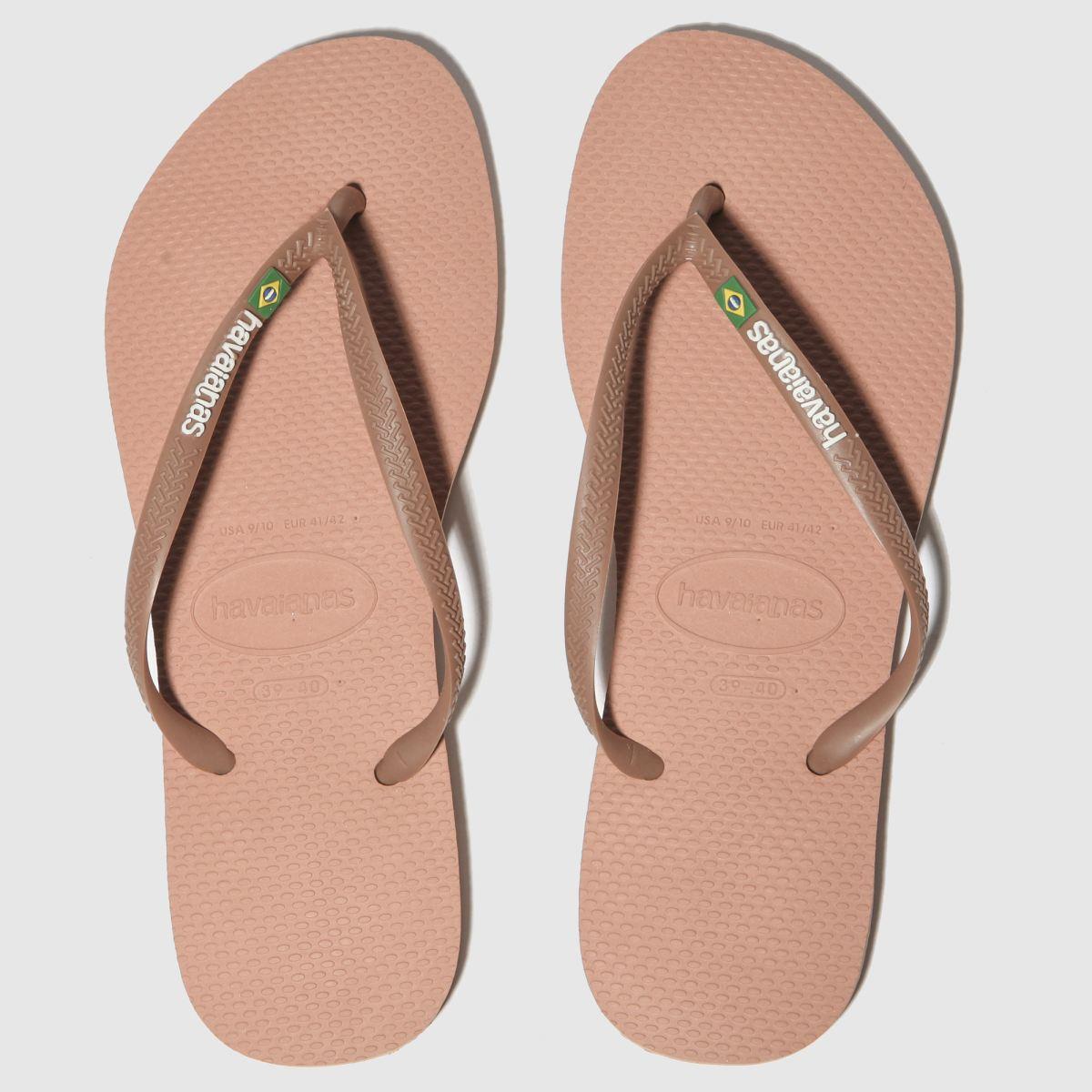 Havaianas Pink Slim Brasil Logo Sandals