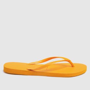 Havaianas Yellow Slim Womens Sandals