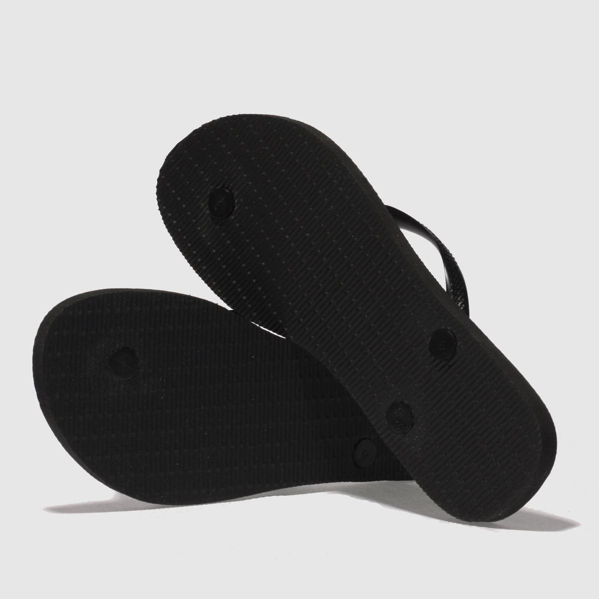Damen Schwarz Sandalen havaianas Slim Logo Metallic Sandalen Schwarz | schuh Gute Qualität beliebte Schuhe 303b5e