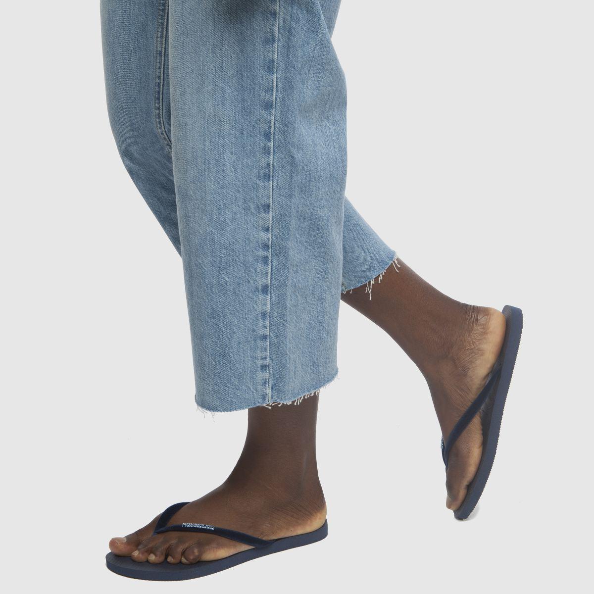 Damen Marineblau havaianas Slim Velvet Sandalen | schuh Gute Qualität beliebte Schuhe