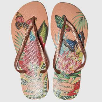 Havaianas Natural Slim Tropical Womens Sandals