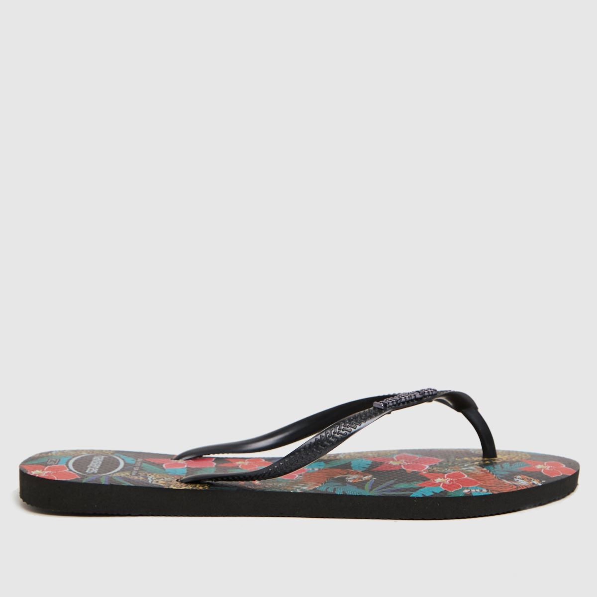 Havaianas Black & Grey Slim Tropical Sandals