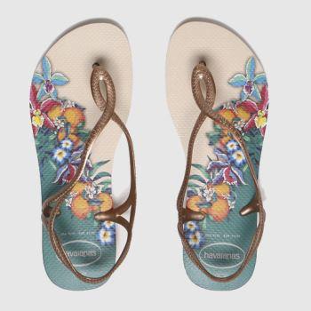 Havaianas Beige Luna Womens Sandals