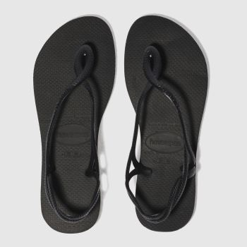 15514dd54 womens black havaianas luna sandals
