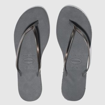 5ef8f0372807 Havaianas Grey You Metallic Womens Sandals