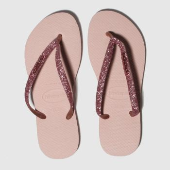 Havaianas Pink Slim Glitter c2namevalue::Womens Sandals