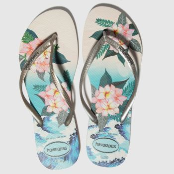 Havaianas Blue & Pink Slim Tropical Sunset Womens Sandals