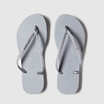 Havaianas Silver Flatform Glitter c2namevalue::Womens Sandals