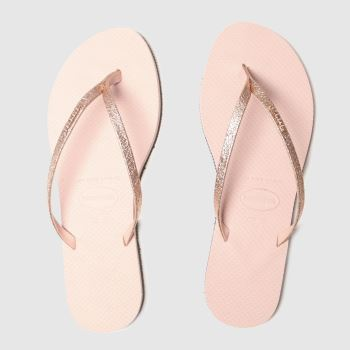 Havaianas Pink You Shine Glitter Womens Sandals#