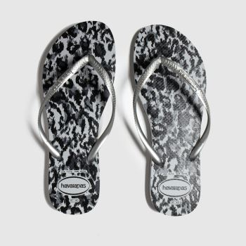 Havaianas Black & Silver Slim Animal Womens Sandals