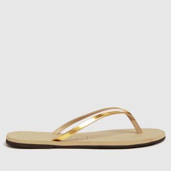 Havaianas Gold You Metallic Womens Sandals
