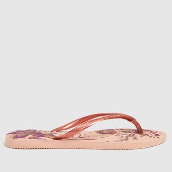Havaianas Pale Pink Slim Organ Womens Sandals