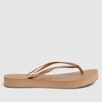 Havaianas Pale Pink Slim Flatform Womens Sandals