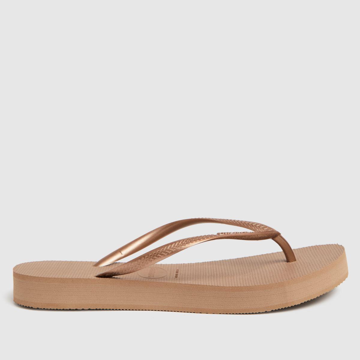 Havaianas Pale Pink Slim Flatform Sandals