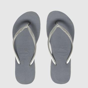 Havaianas Grey Slim Flatform Womens Sandals