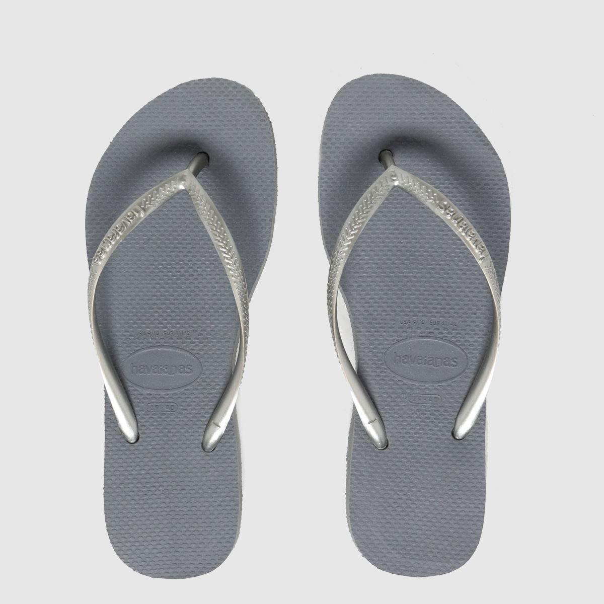 Havaianas Grey Slim Flatform Sandals