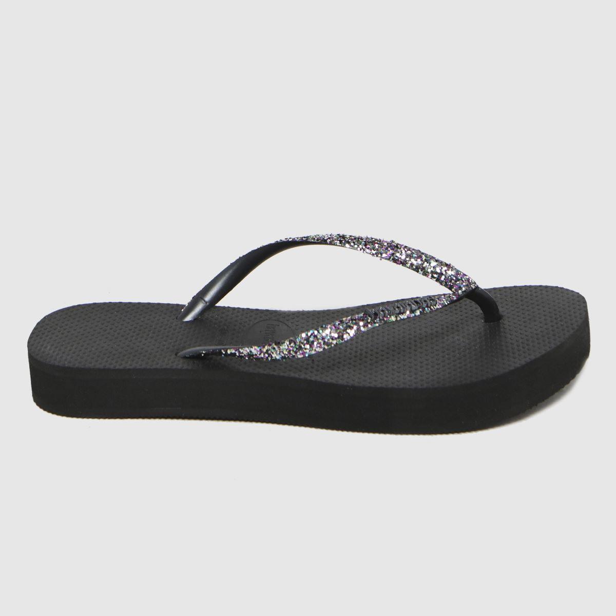 Havaianas Black Slim Flatform Sandals