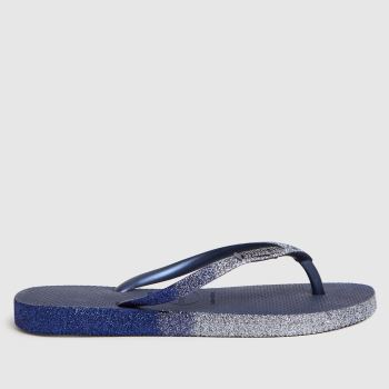 Havaianas Navy Slim Sparkle Ii Womens Sandals