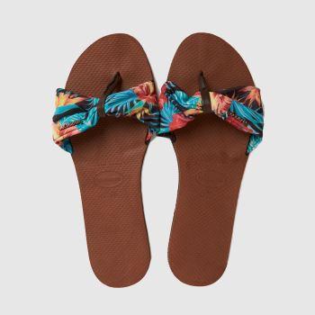 Havaianas Brown & Pl Blue You Saint Tropez Womens Sandals