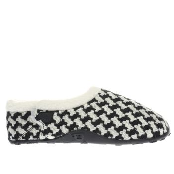 HOMEYS BLACK & WHITE MAGS SLIPPERS