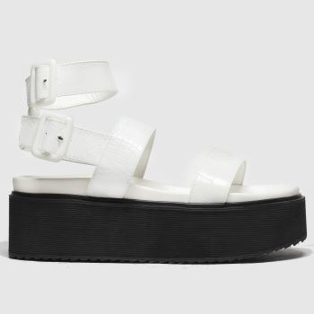 Public Desire White Kodie Womens Sandals